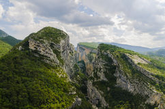 Verdon chasm. The Verdon chasm, Provence, France Stock Photo
