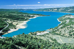 Verdon colored lake Royalty Free Stock Image
