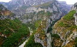 Verdon Gorge canyon in France Stock Images