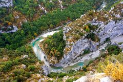 Verdon Gorge canyon in France Royalty Free Stock Image