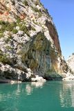 Verdon Gorge. Canyon. Lake of Sainte-Croix. South of France. royalty free stock photos