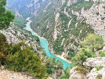 THE VERDON GORGE,FRANCE royalty free stock images