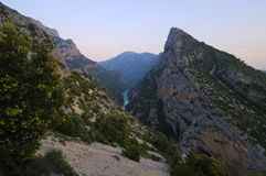 Verdon Gorge or Gorges du Verdon Stock Image