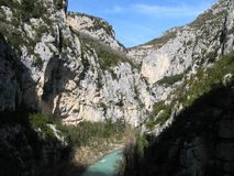 Verdon gorge, site of the imbut, france Stock Image