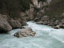 Verdon gorge, site of the imbut, france Stock Photography