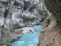 Verdon gorge, site of the imbut, france Royalty Free Stock Images