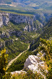 The Verdon Gorge in south-eastern France Royalty Free Stock Photo