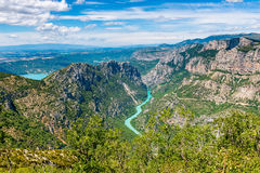 Verdon Gorge in South-Eastern France Royalty Free Stock Photography