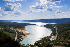 Verdon Gorge and St. Croix Lake, Provence Royalty Free Stock Photo