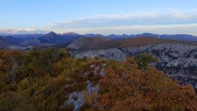 Verdon Gorges canyon in autumn stock footage