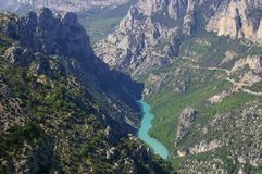 Verdon gorges, river, canyon stock image