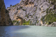 Verdon gorges. The Verdon river and its canyon in Provence Royalty Free Stock Photos