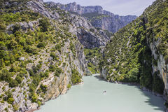Verdon gorges. The Verdon river and its canyon in Provence Stock Image