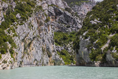 Verdon gorges. The Verdon river and its canyon in Provence Stock Photography