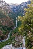 Verdon kanjon, Frankrike Arkivfoto