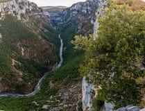 Verdon kanjon, Frankrike Arkivfoton