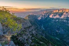 Verdon klyftor på solnedgången Fotografering för Bildbyråer