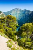 Verdon river panorama Stock Photo