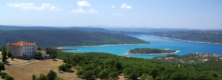 Verdon river in Southeastern France Royalty Free Stock Photography