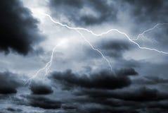 Verdoppeln Sie Blitzschlag Lizenzfreies Stockfoto