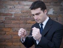 Verdorbener Manager im Gefängnis Lizenzfreie Stockbilder