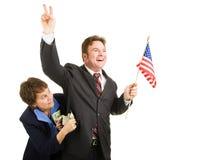 Verdorbener Politiker stockfoto