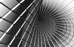 Verdraaid abstract vierkant zilveren patroon Royalty-vrije Stock Foto's