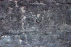 Verdraaid blad van oude metaaltextuur, doorstane staalplaat backgr Stock Foto's
