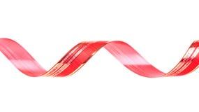 Verdraaid rood lint stock foto