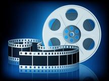 Verdraaide film voor film. Vector Illustratie. Stock Afbeeldingen