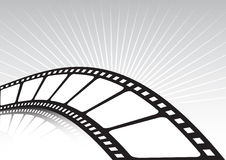 Verdraaide filmstrook en stralen Royalty-vrije Stock Afbeelding