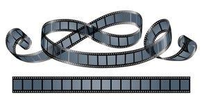 Verdraaide geïsoleerde filmspoel Stock Afbeeldingen