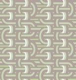 Verdraaide lijnen in naadloos patroon. Stock Afbeelding