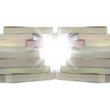 Verdraaide stapelboeken Stock Afbeeldingen