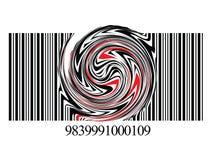 Verdraaide streepjescode Stock Foto's