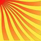 Verdraaide zon. Royalty-vrije Stock Afbeelding