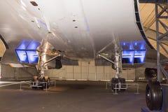 Verdrag - Brits-Frans supersonisch passagiersvliegtuig in stock foto's