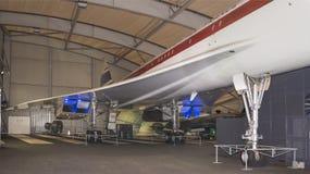 Verdrag - Brits-Frans supersonisch passagiersvliegtuig in royalty-vrije stock afbeelding