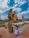 Verdragende Boedha in Wat Phia Wat Xieng Khuang, Laos royalty-vrije stock foto's