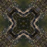 Verdrahtete Mandala, symetric abstrakter Hintergrund Stockfotografie