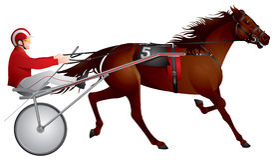 Verdrahtungslaufen, Pferd, Rennen Lizenzfreie Abbildung