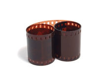 Verdrehte 35 Millimeter filmstrip stockfotografie
