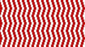Verdrehte geometrische Form der abstrakten optischen Täuschung Stockbilder