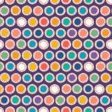 Verdrehte Kreise des abstrakten organischen Schnittes Nahtloser Hintergrund des Vektormusters Handgezogene strukturierte Art Tupf stockbild