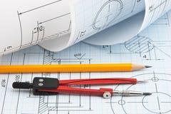 Verdrehte technische Zeichnung Lizenzfreie Stockbilder