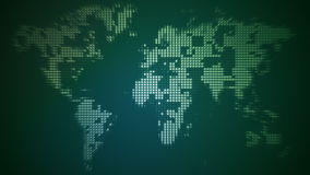 Verdrehte Weltkarte stock footage