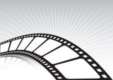 Verdrehter Filmstreifen und -strahlen Lizenzfreies Stockbild