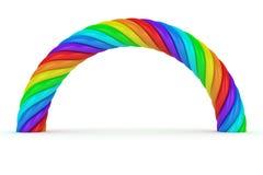 Verdrehter Regenbogen Stockbilder