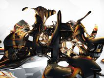 Verdrehtes Metall Stockfoto