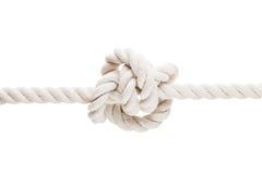 Gebundener Knoten auf Seil oder Frühling Stockbilder